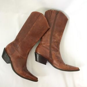 Matisse Brown Leather Tooled Western Boots